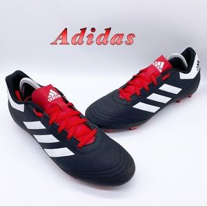Adidas-Black and Red Soccer Cleat Men sz 10